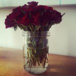 Flowers in jam jars