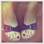 My happy summer feet in Birkenstock