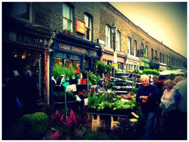 flower market, Bethnal Green