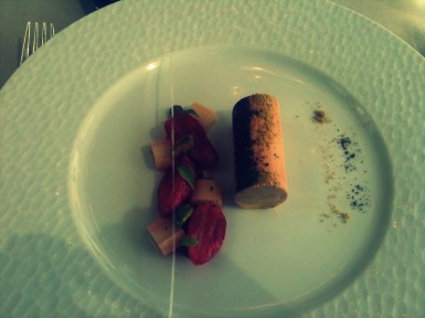 Foie Gras with berry coulis