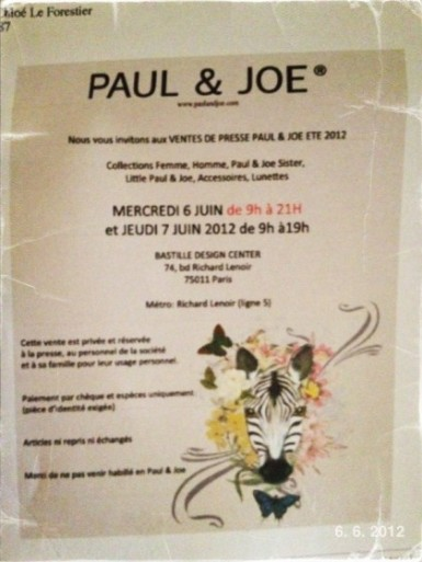 Paul & Joe private sale