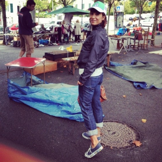 Fiona at the Flea Market Anglet