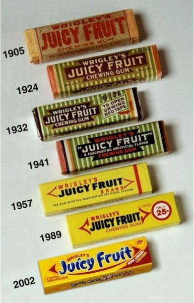 Juicy Fruit vintage packaging