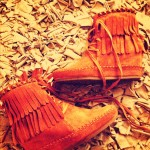 Oooh my new fringed booties