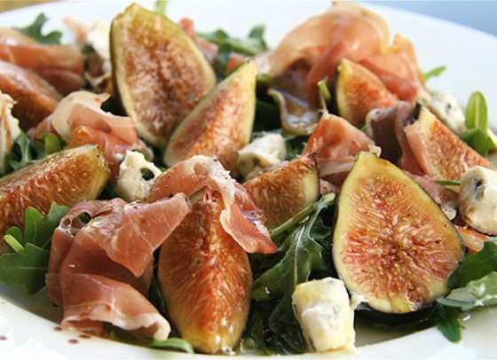 Fig, prosciutto and parmesan salad