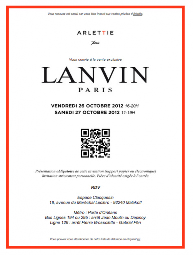 Lavin private sale vente privee 2012