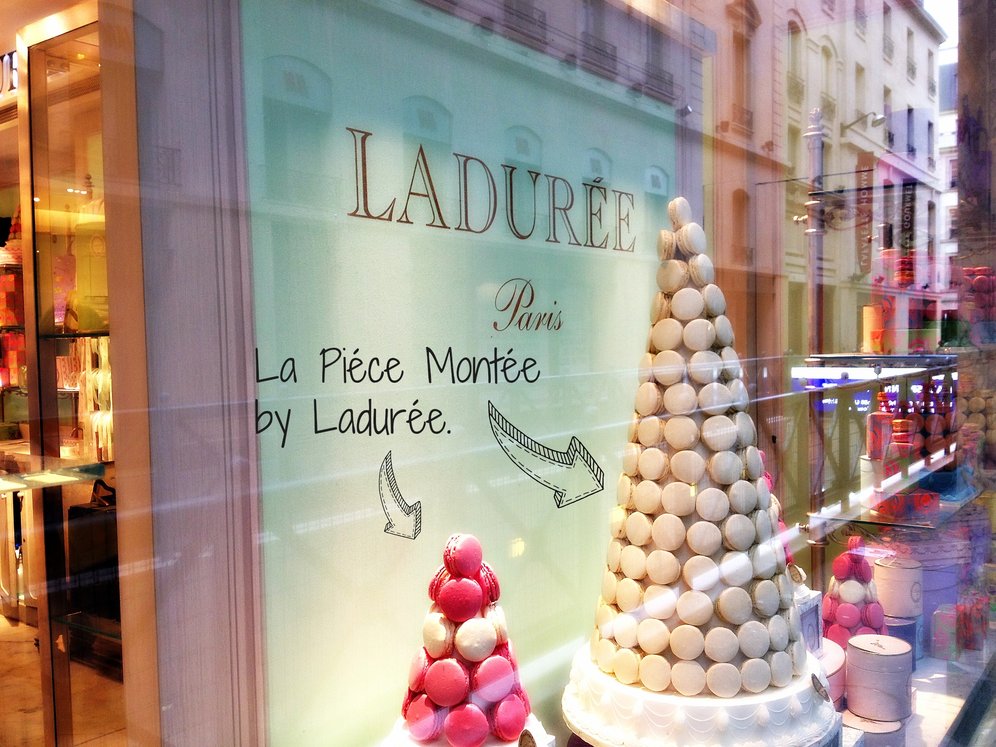 Best places in paris and france multicolored angel made for Laduree christmas