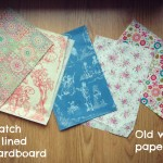 Decopatch/wallpaper/wrapping paper – recycle it