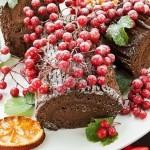 Christmas in France – the Cognac Buche de Noel cake