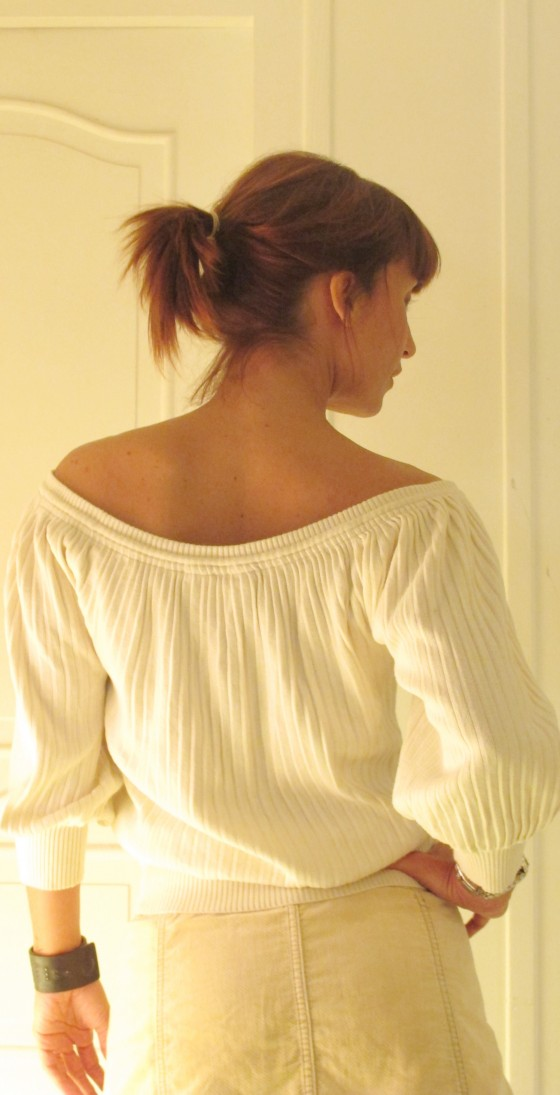 Off the shoulder jumper