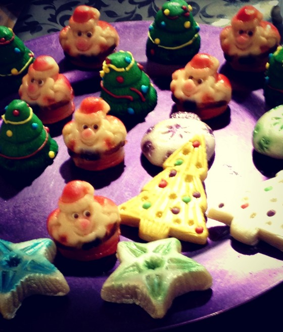 Marzepan Christmas shapes France