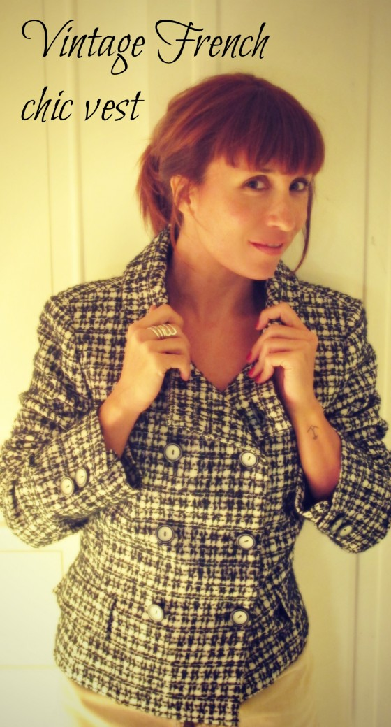 Vintage French Chic Vest