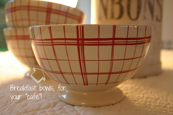 Rustic French breakfast bowl