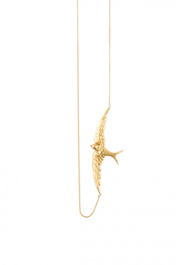 Dove necklace - Gold - Schade Jewellery