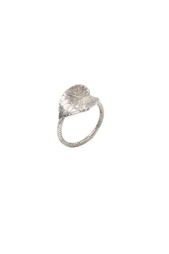 Leaf and branch ring - Silver - Schade Jewellery