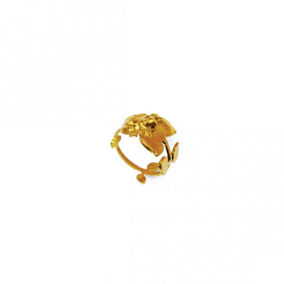 Flower and leaf ring - Gold - Schade Jewellery