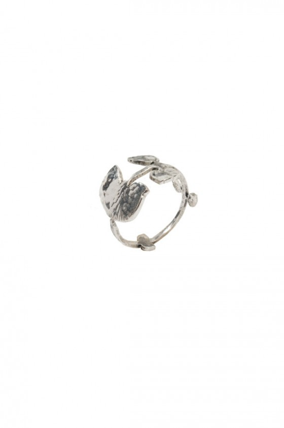 Silver leaves ring Schade Jewellery Paris