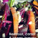 Rose Bakery's organic beetroot, carrot and tomato salad