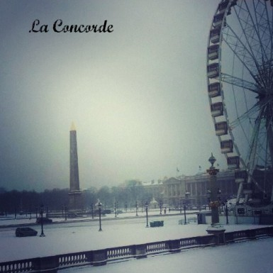 La Concorde Paris snow