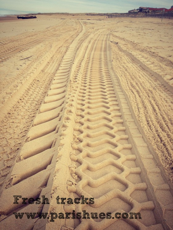 Tracks on the beach Hossegor