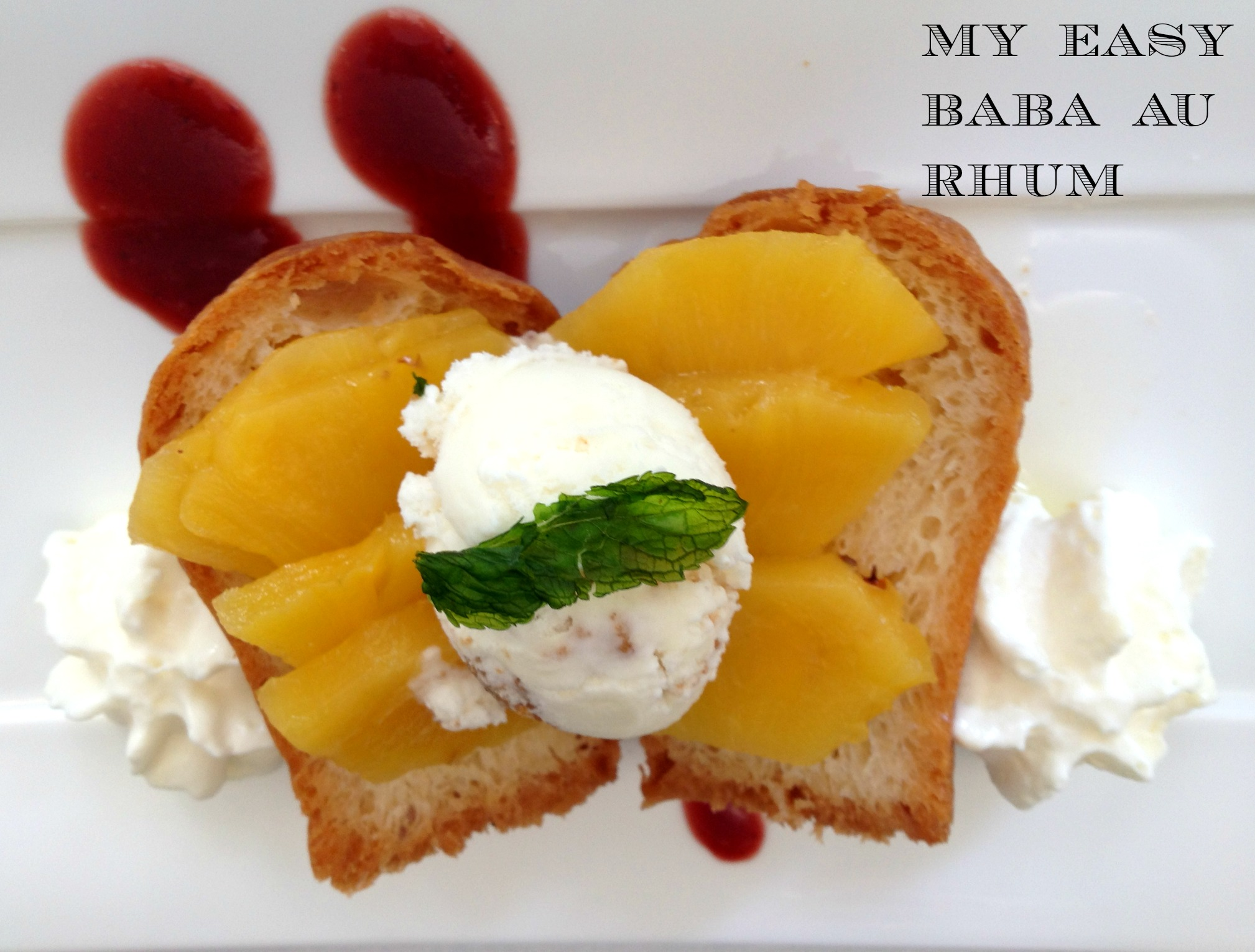 Recipe for baba rum cake