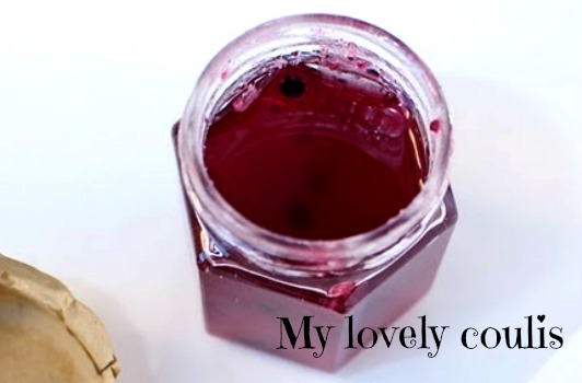 French cuisine my recipe homemade raspberry coulis for Couleur framboise