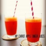 My carrot apple ginger juices