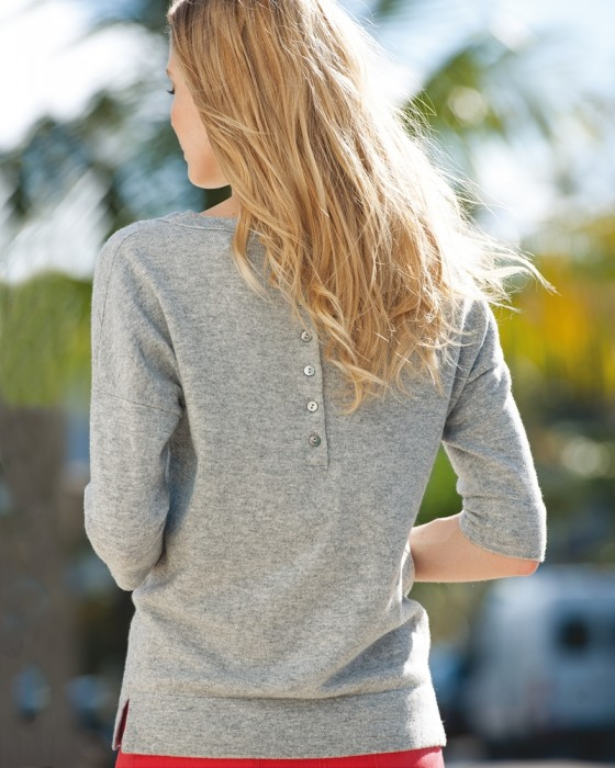 cashmere button back