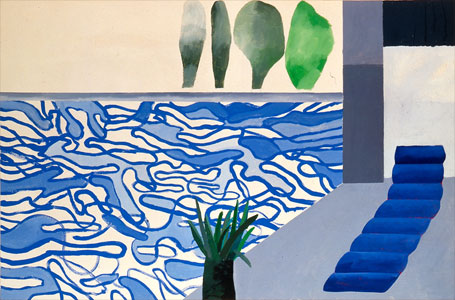 French culture and art from paris the talented david - David hockney swimming pool paintings ...