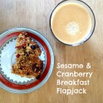Breakfast cranberry and sesame Flapjacks